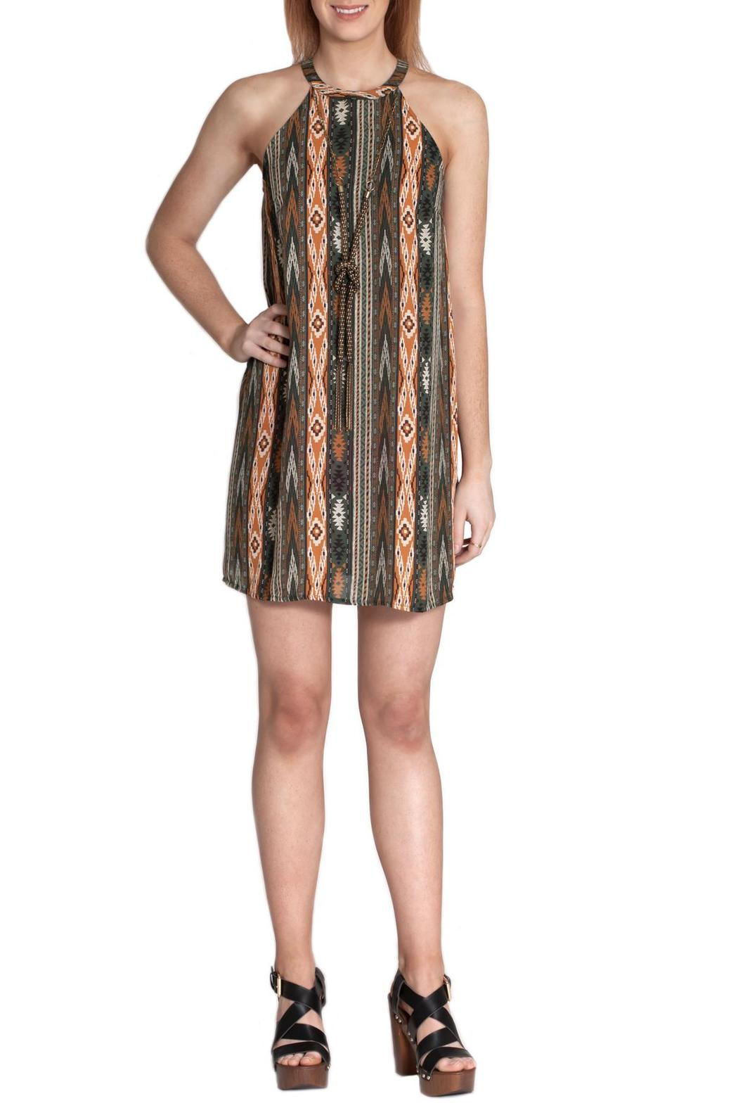 Ya Los Angeles Aztec Print Dress - Front Cropped Image