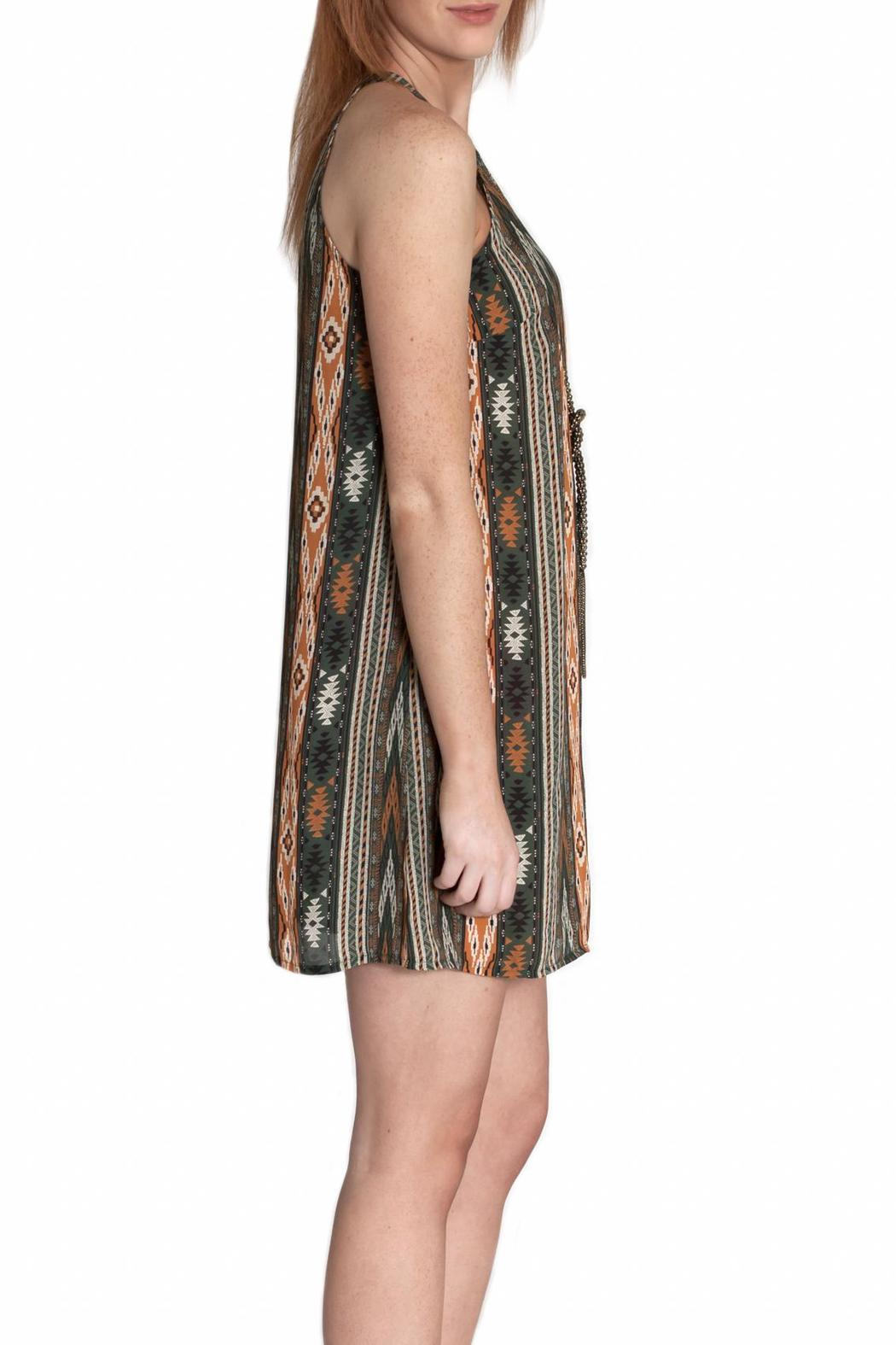 Ya Los Angeles Aztec Print Dress - Side Cropped Image
