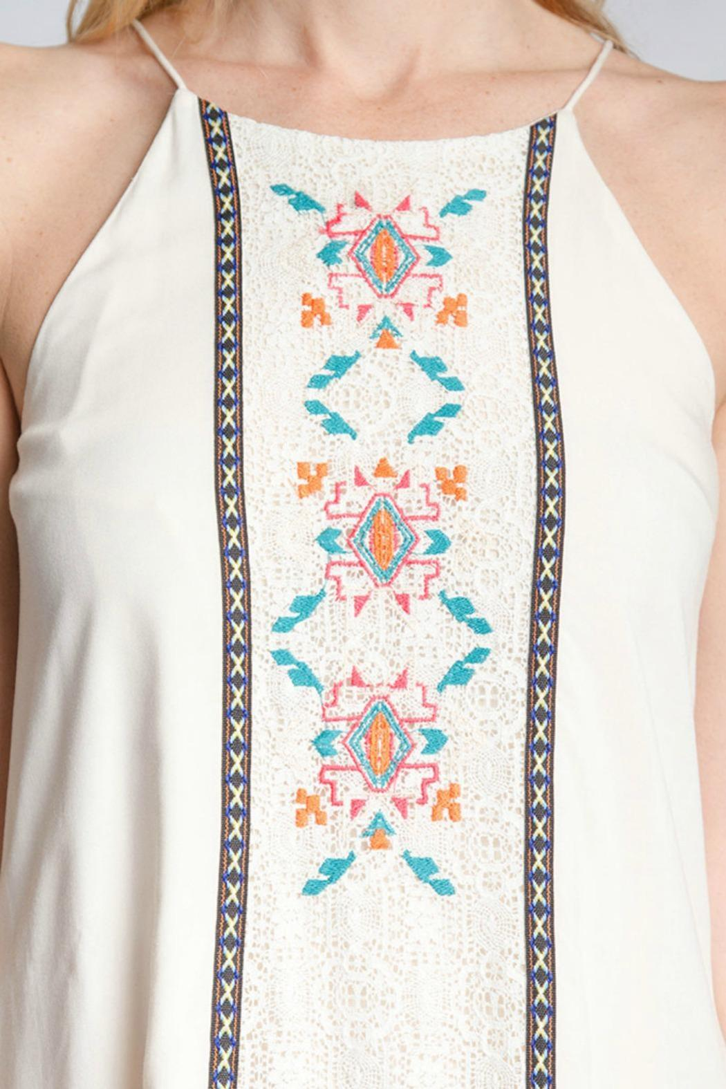 Ya los angeles cream embroidered dress from delaware by
