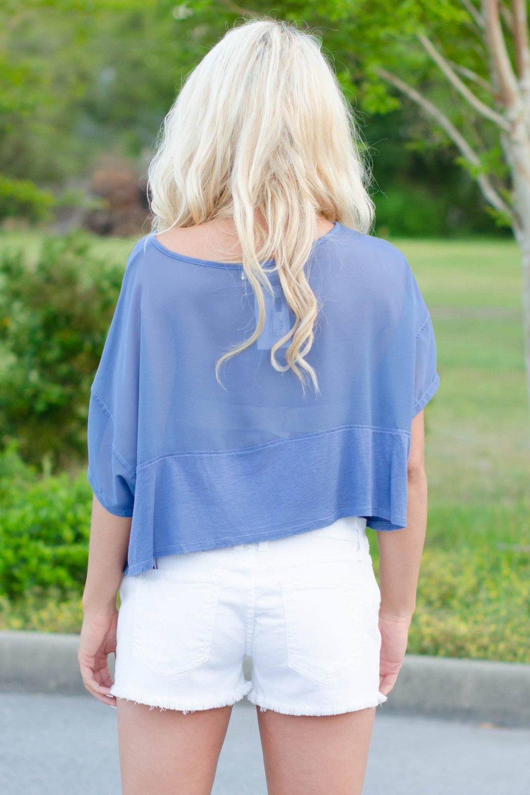Ya Los Angeles Cute Cropped Top - Front Full Image