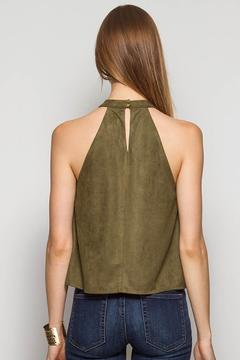 Ya Los Angeles Olive Suede Top - Alternate List Image