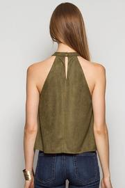 Ya Los Angeles Olive Suede Top - Front full body