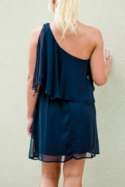 Ya Los Angeles Oneshoulder Ruffle Dress - Front full body