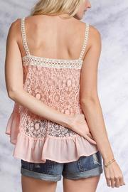 Ya Los Angeles Pink Lace Top - Side cropped