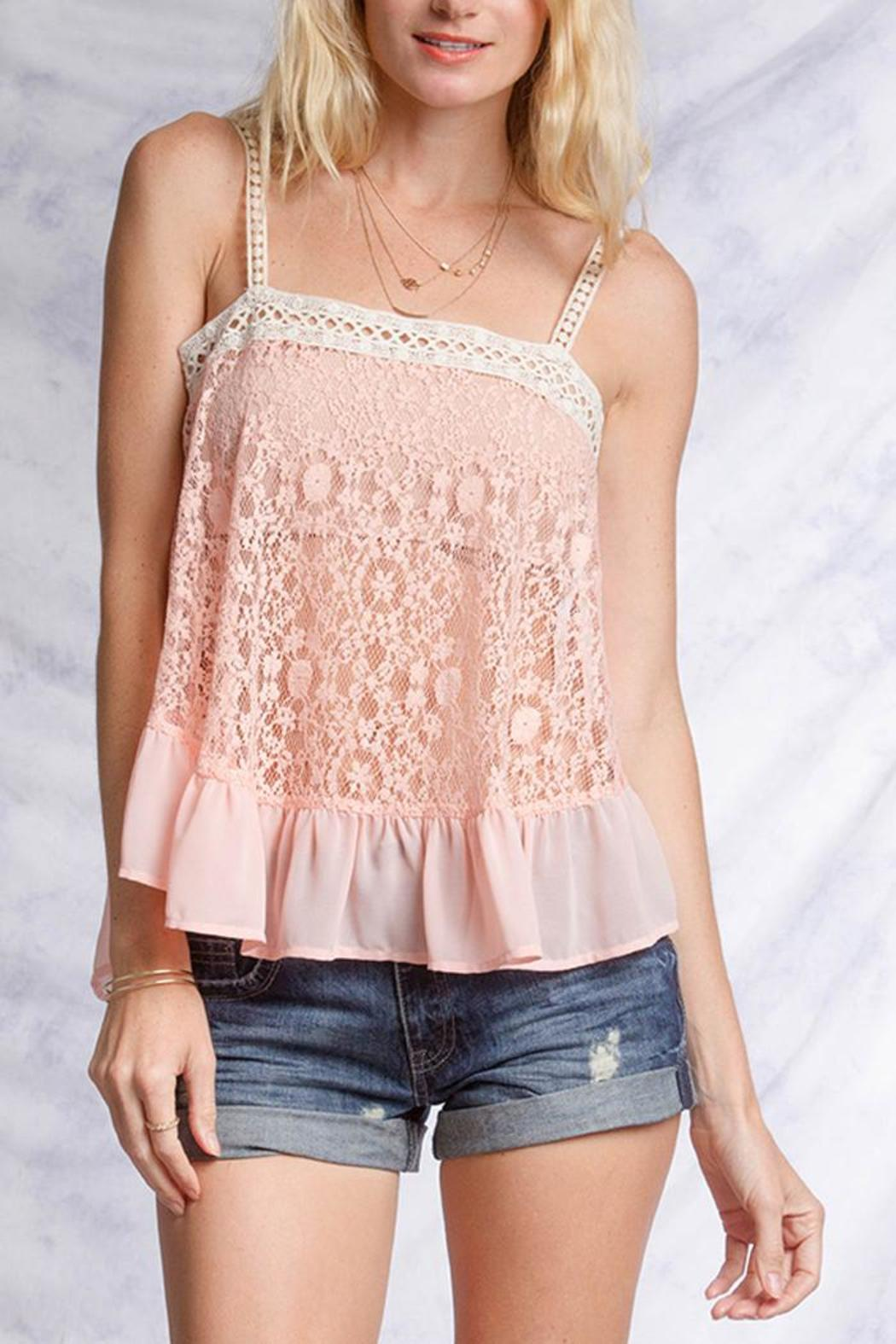 Ya Los Angeles Pink Lace Top from New York by Luna ...
