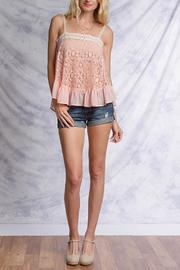 Ya Los Angeles Pink Lace Top - Front full body