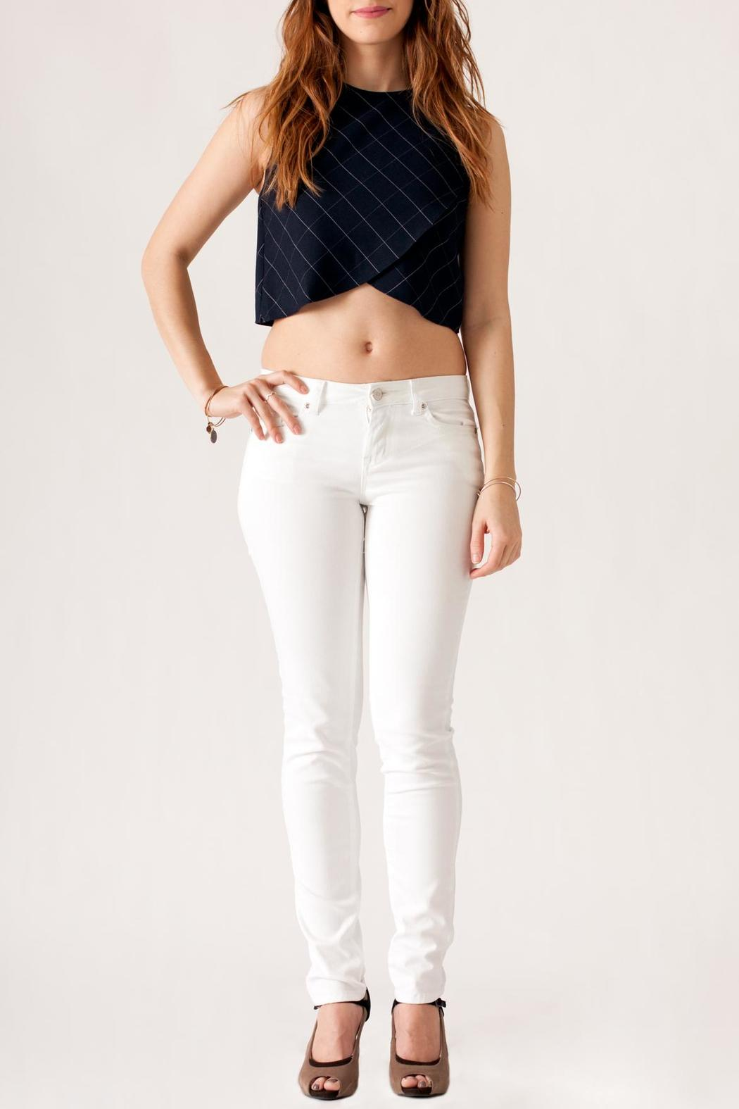 Ya Los Angeles Plaid Crop Top - Front Cropped Image
