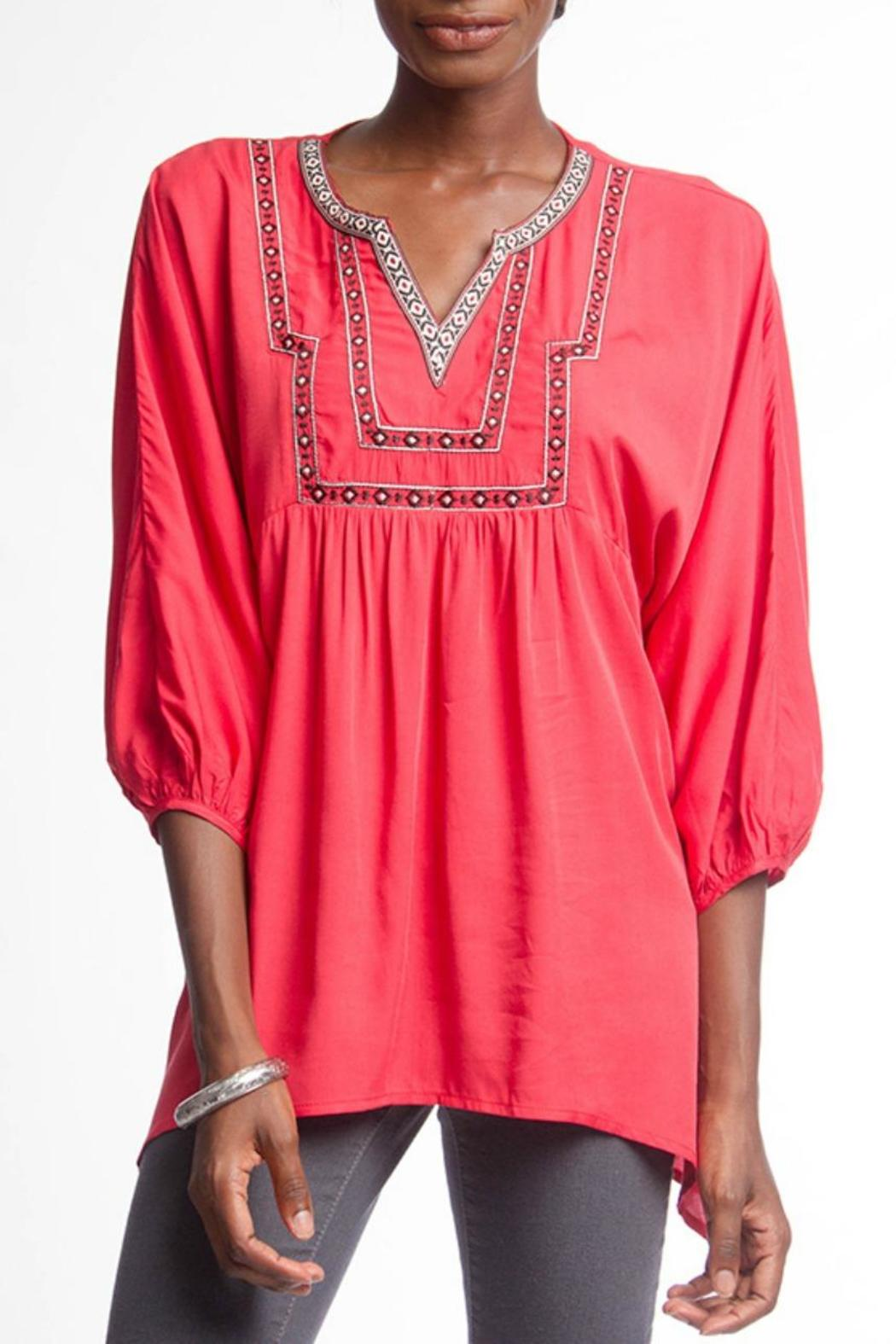Ya los angeles red embroidered top from new jersey by