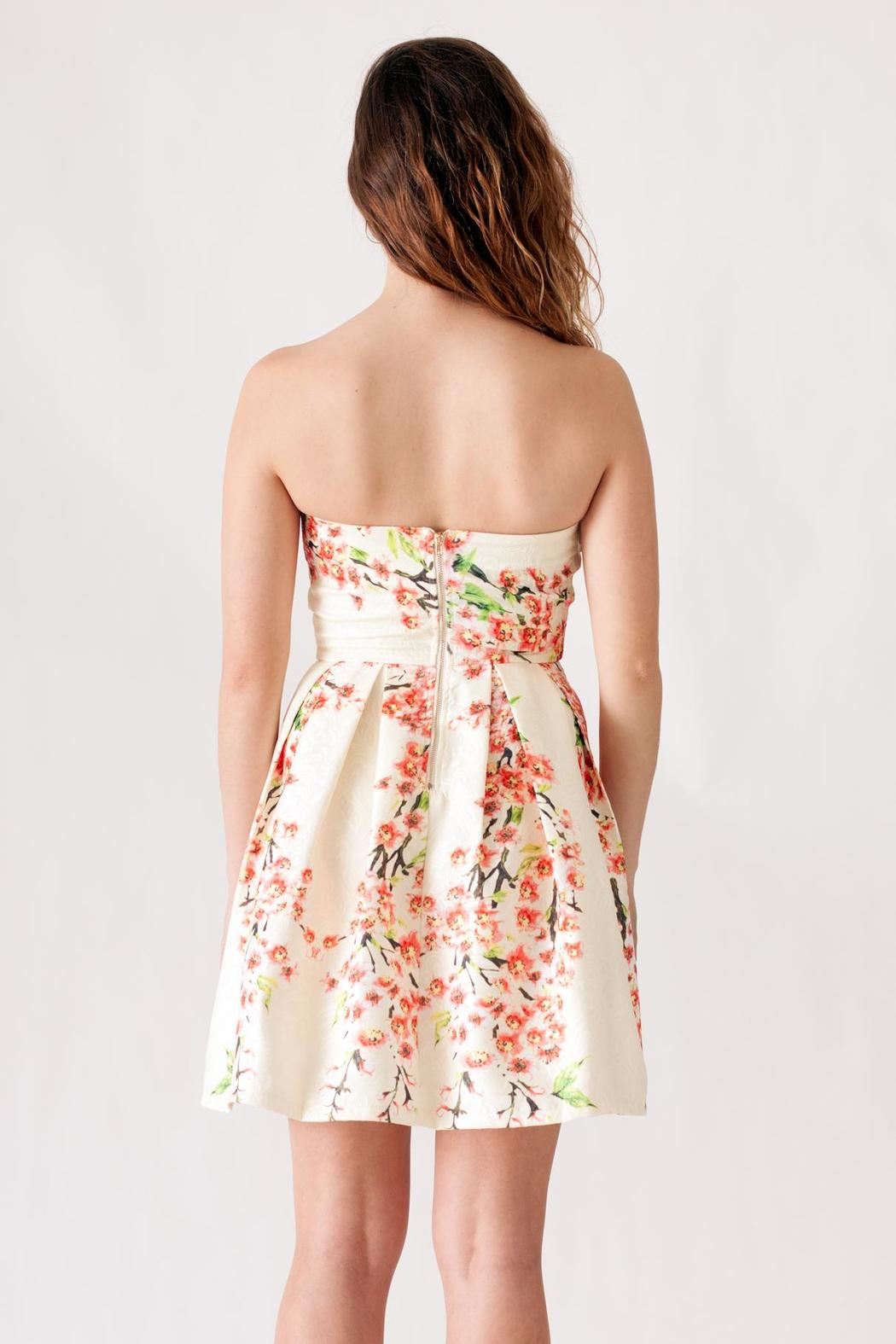 Ya Los Angeles Textured Floral Dress - Side Cropped Image