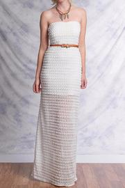 Ya Los Angeles White Crochet Maxi - Product Mini Image