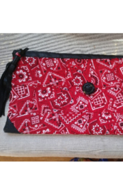 Tiny House of Fashion Yae Red Bandana Clutch - Product Mini Image