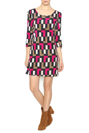 Yahada Purple Block Dress - Front full body