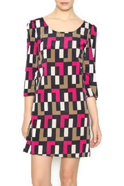 Yahada Purple Block Dress - Front cropped