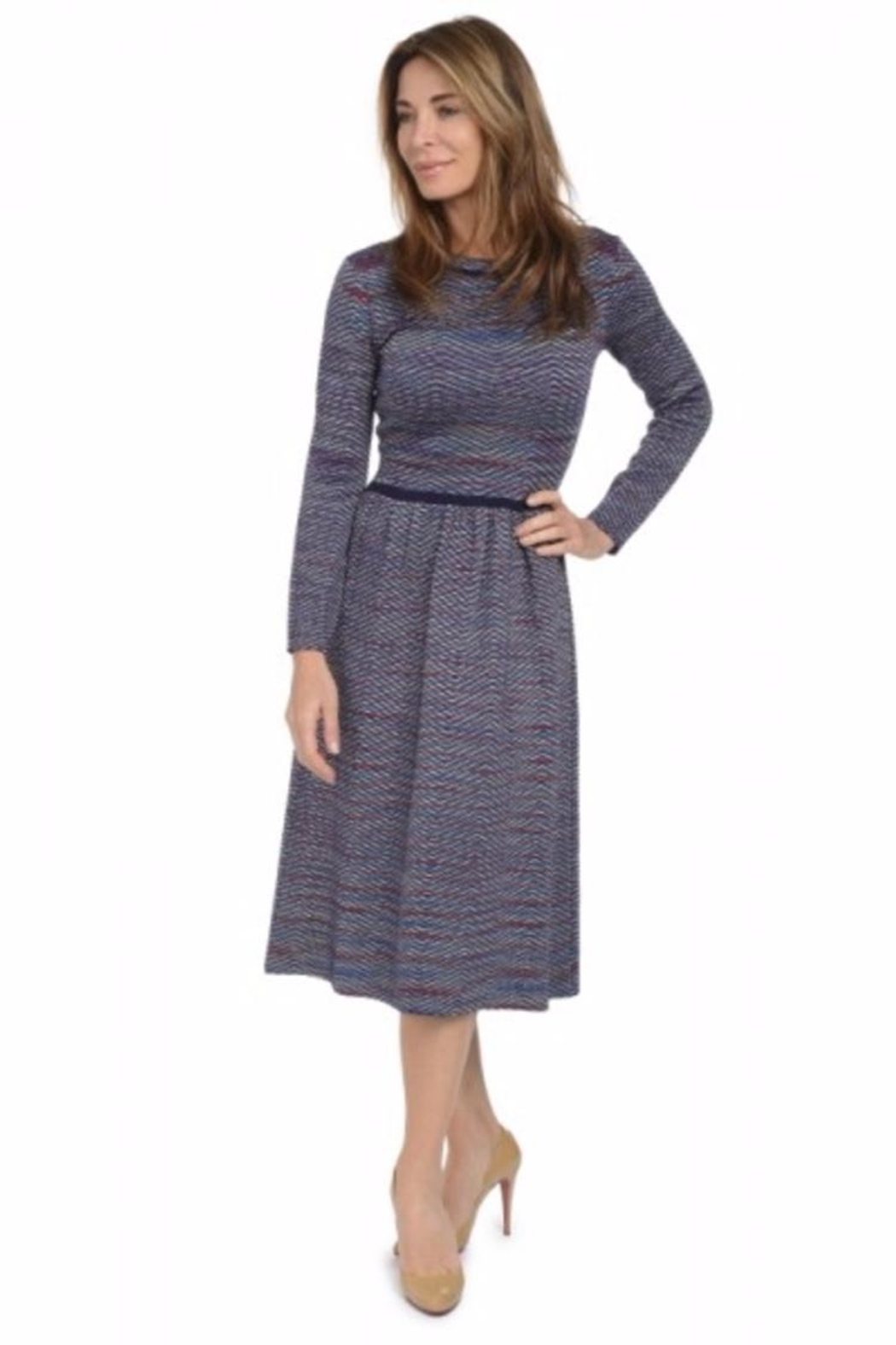 Yal NY Multi-Printed Knit Dress - Front Cropped Image