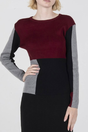 Yal NY Ribbed Colorblock Top - Product Mini Image