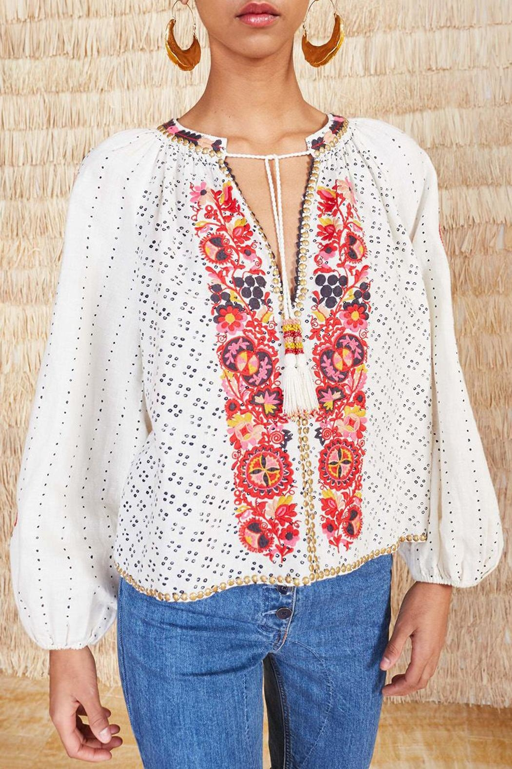 Ulla Johnson Yara Embroidered Blouse - Main Image