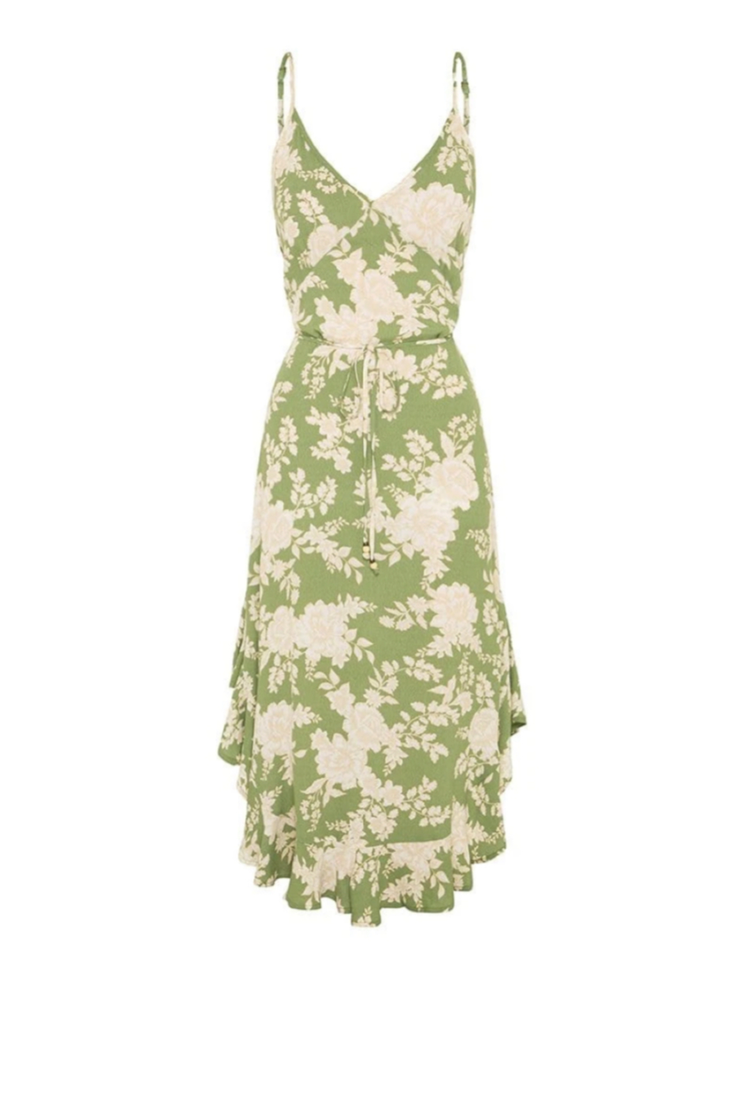 Kivari  Yara Floral Midi Dress - Back Cropped Image