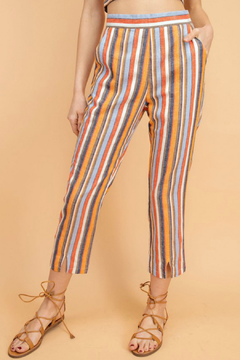 lelis Yarn dye stripe linen pants - Product List Image