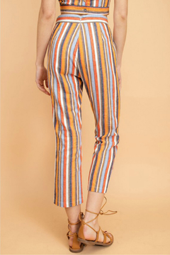lelis Yarn dye stripe linen pants - Alternate List Image