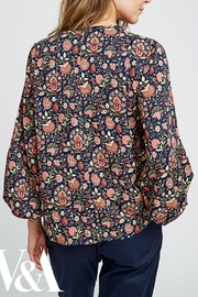 People Tree Yasmin Print Top - Front full body