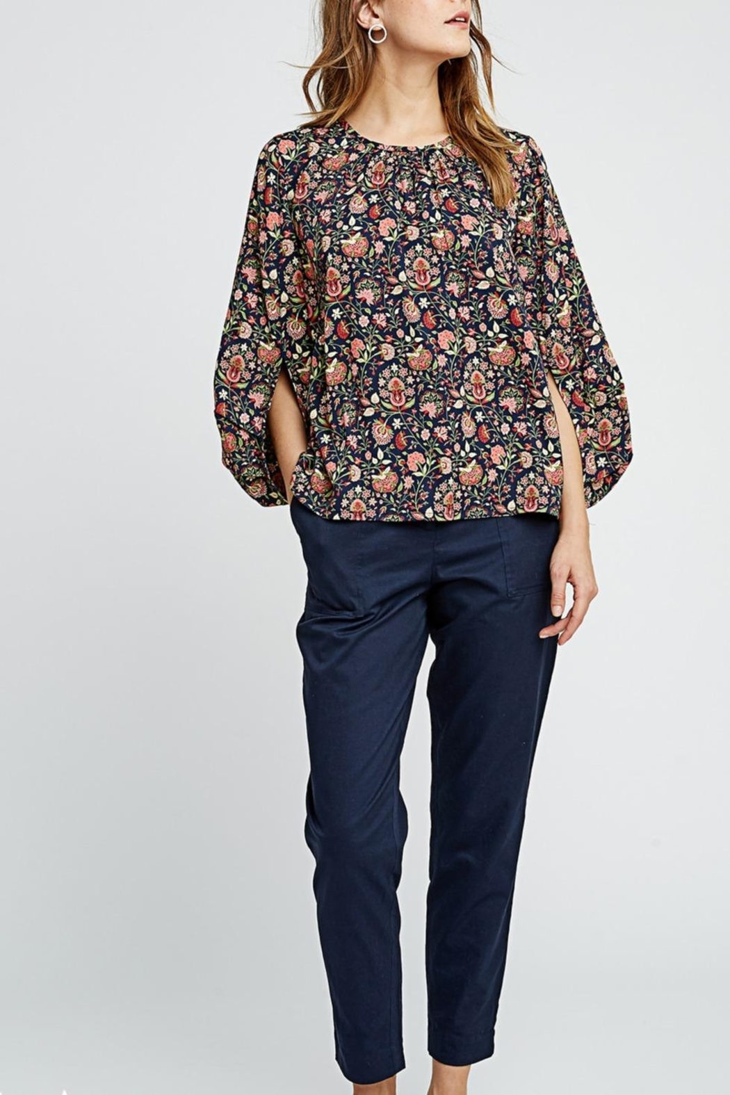 People Tree Yasmin Print Top - Front Cropped Image