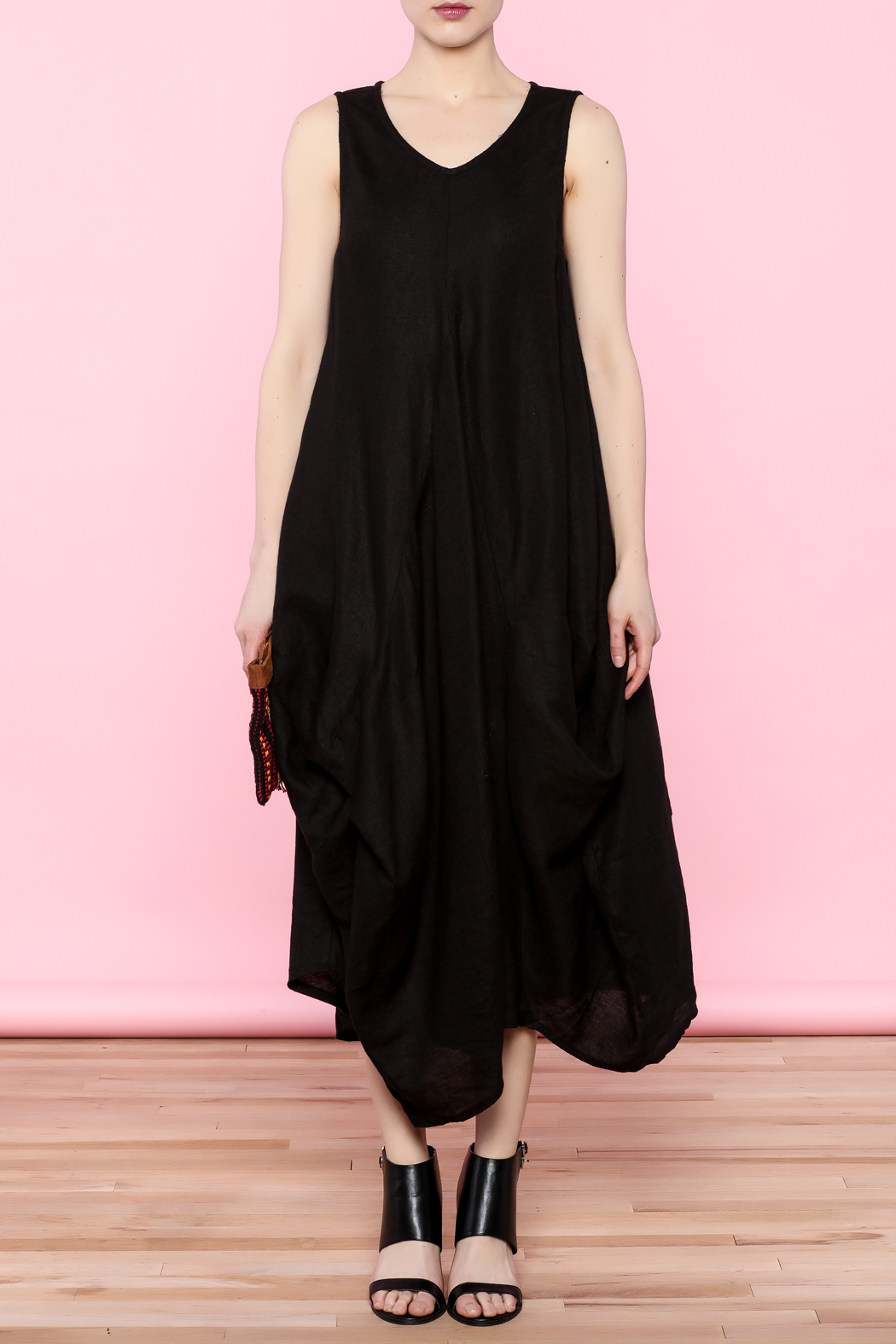 Yea Black Linen Dress from San Francisco by HarajukuSF — Shoptiques