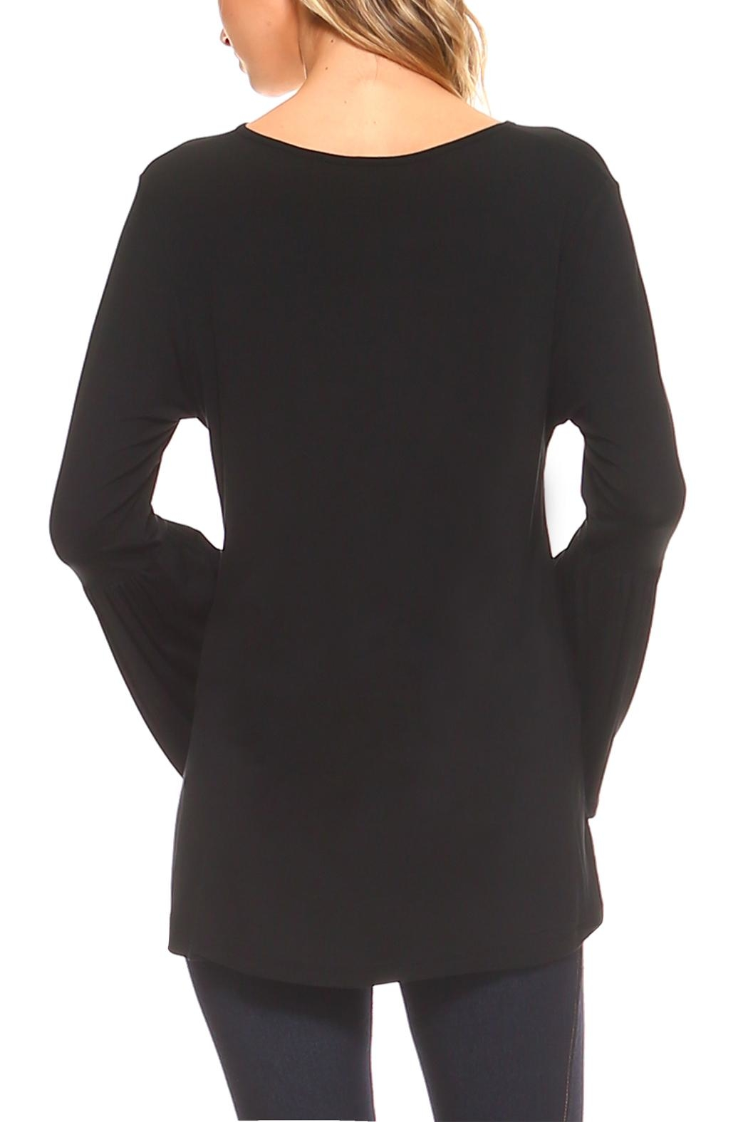 Yelete Bell Sleeve Top - Back Cropped Image