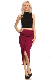 Yelete Burgundy Knot Skirt - Product Mini Image