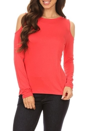 Yelete Cold Shoulder Top - Front full body