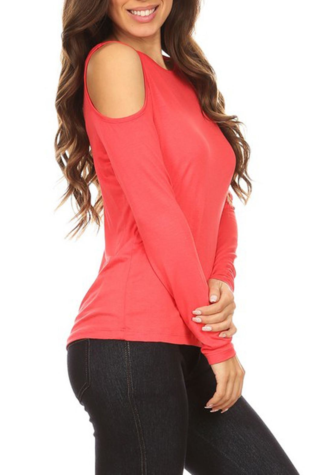 Yelete Cold Shoulder Top - Front Cropped Image