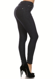 Yelete Fleece 5-Pocket Jeggings - Product Mini Image
