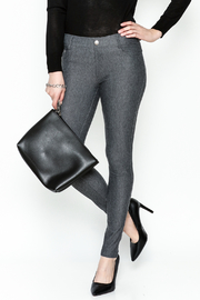 Yelete Grey Jeggings - Front cropped