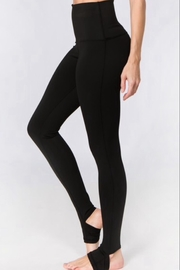 Yelete High Rise Stirrup Leggings - Front cropped