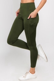 Yelete High Waisted Leggings - Front cropped
