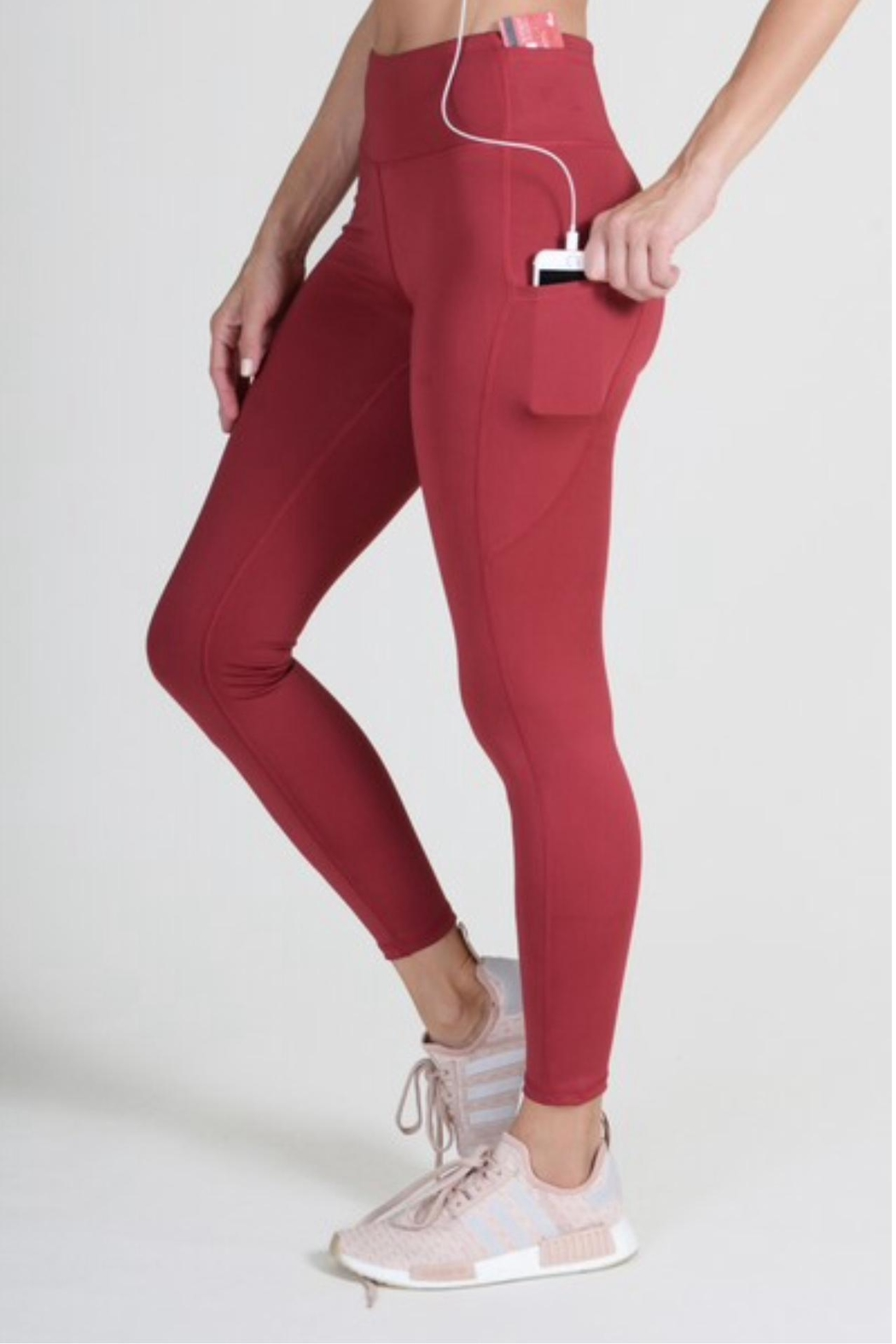 Yelete High Waisted Leggings - Front Cropped Image