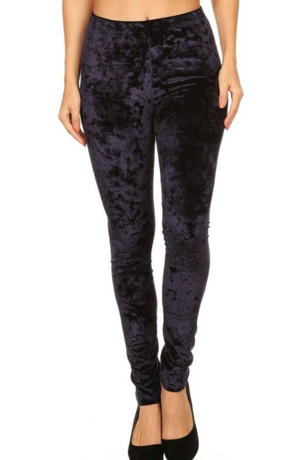 Yelete Icy Velvet Leggings - Side Cropped Image