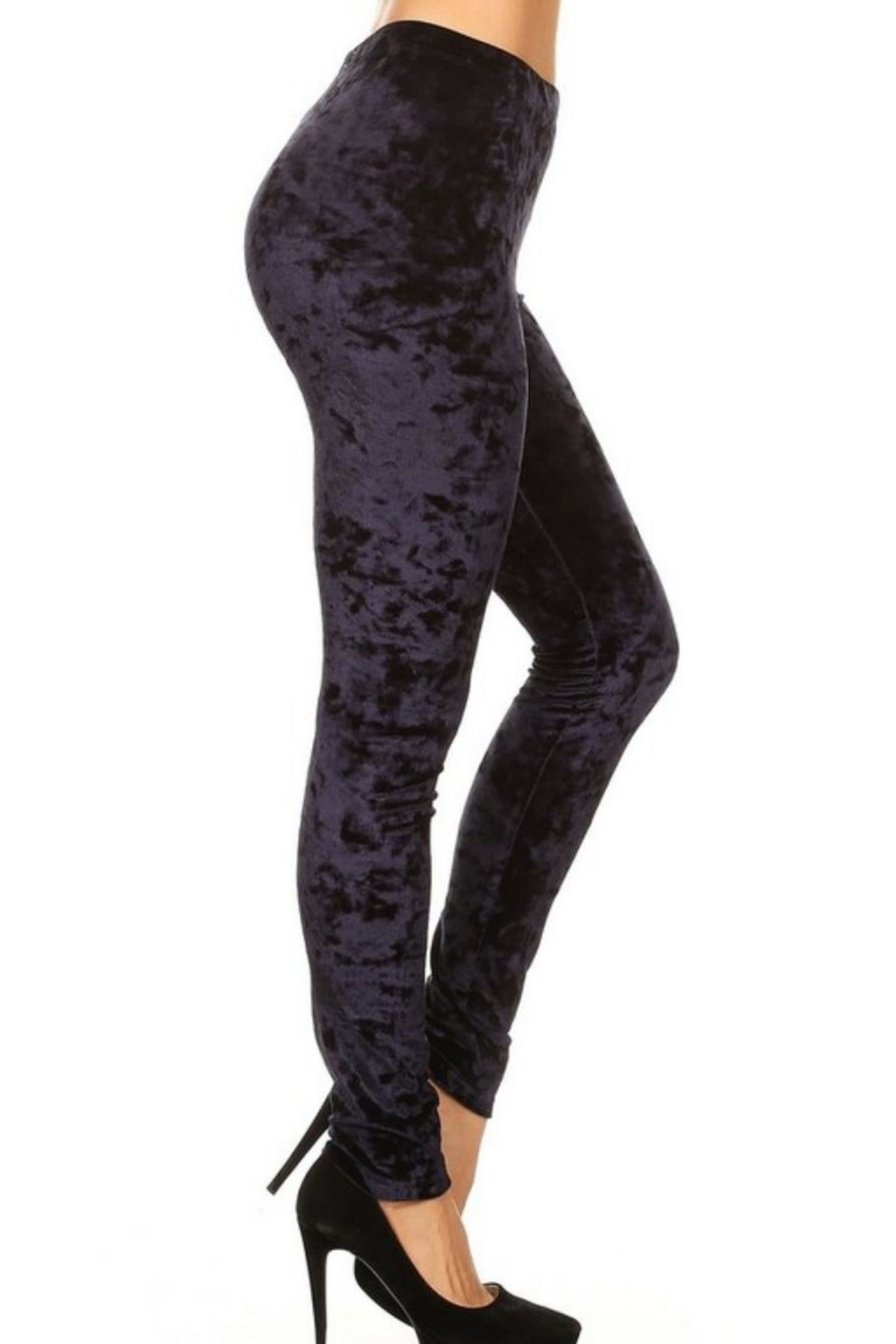 Yelete Icy Velvet Leggings - Front Full Image