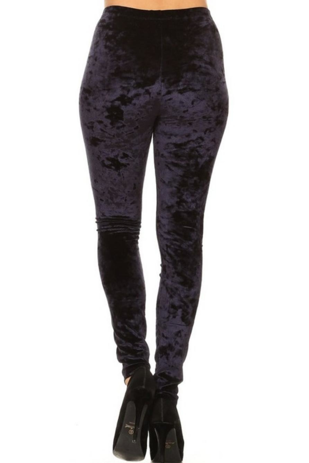 Yelete Icy Velvet Leggings - Front Cropped Image