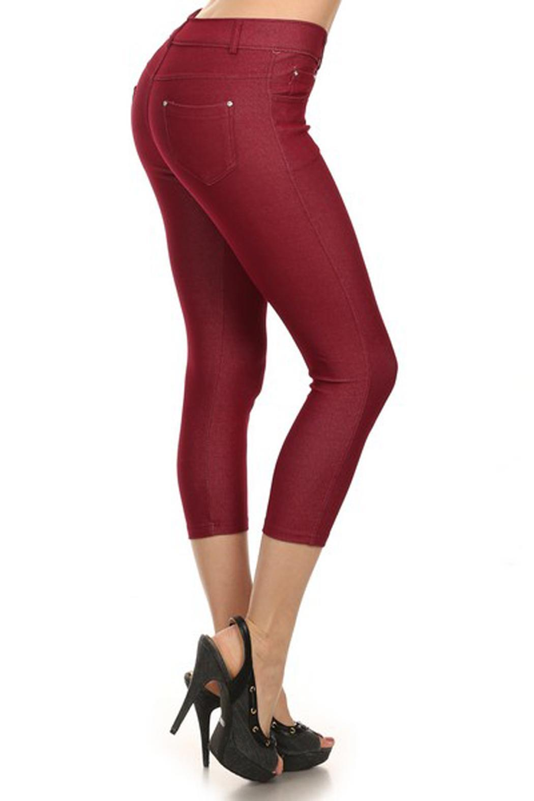 Yelete Jean Capri Jegging - Front Cropped Image