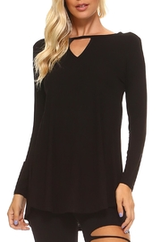 Yelete Long-Sleeve Keyhole Tunic - Product Mini Image