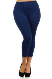 Yelete Navy Capri Legging - Product Mini Image