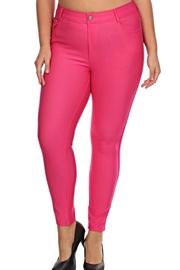 Yelete Pink Denim Jeggings - Product Mini Image