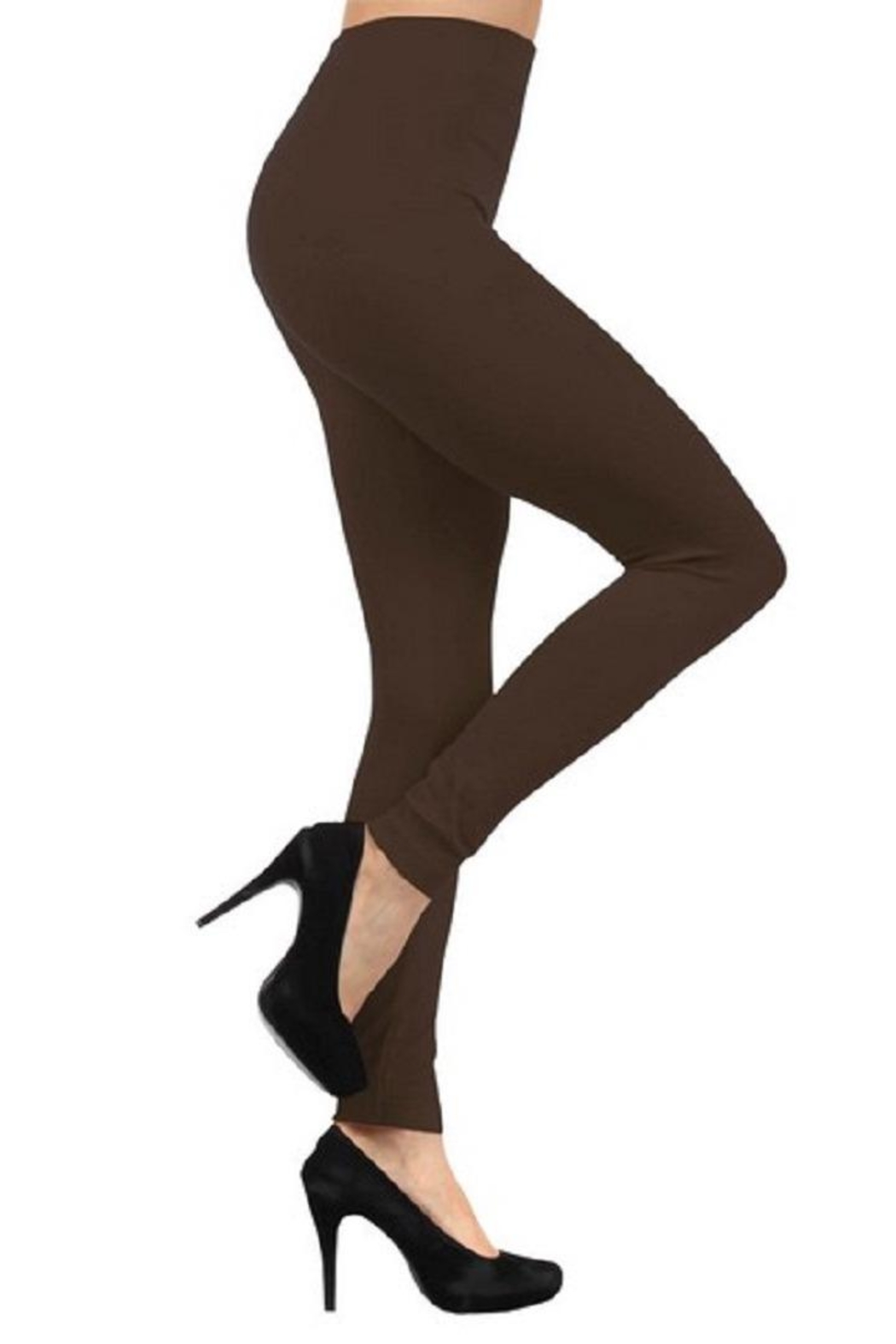 Yelete Seamless Fleece Leggings - Front Cropped Image