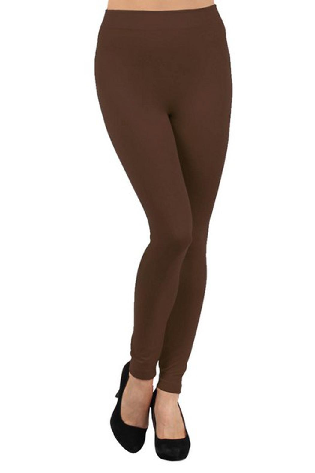 Yelete Seamless Fleece-Lined Legging - Front Cropped Image