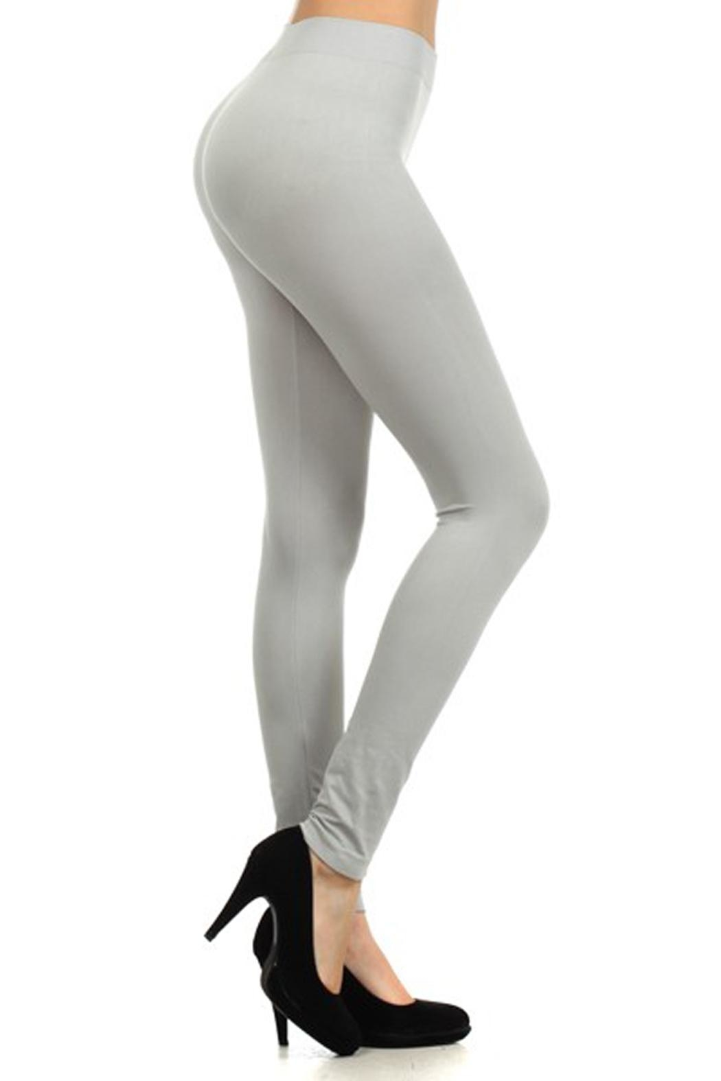 Yelete Solid Color Leggings - Front Cropped Image