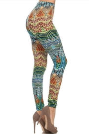 Yelete Valour Printed Leggings - Product Mini Image