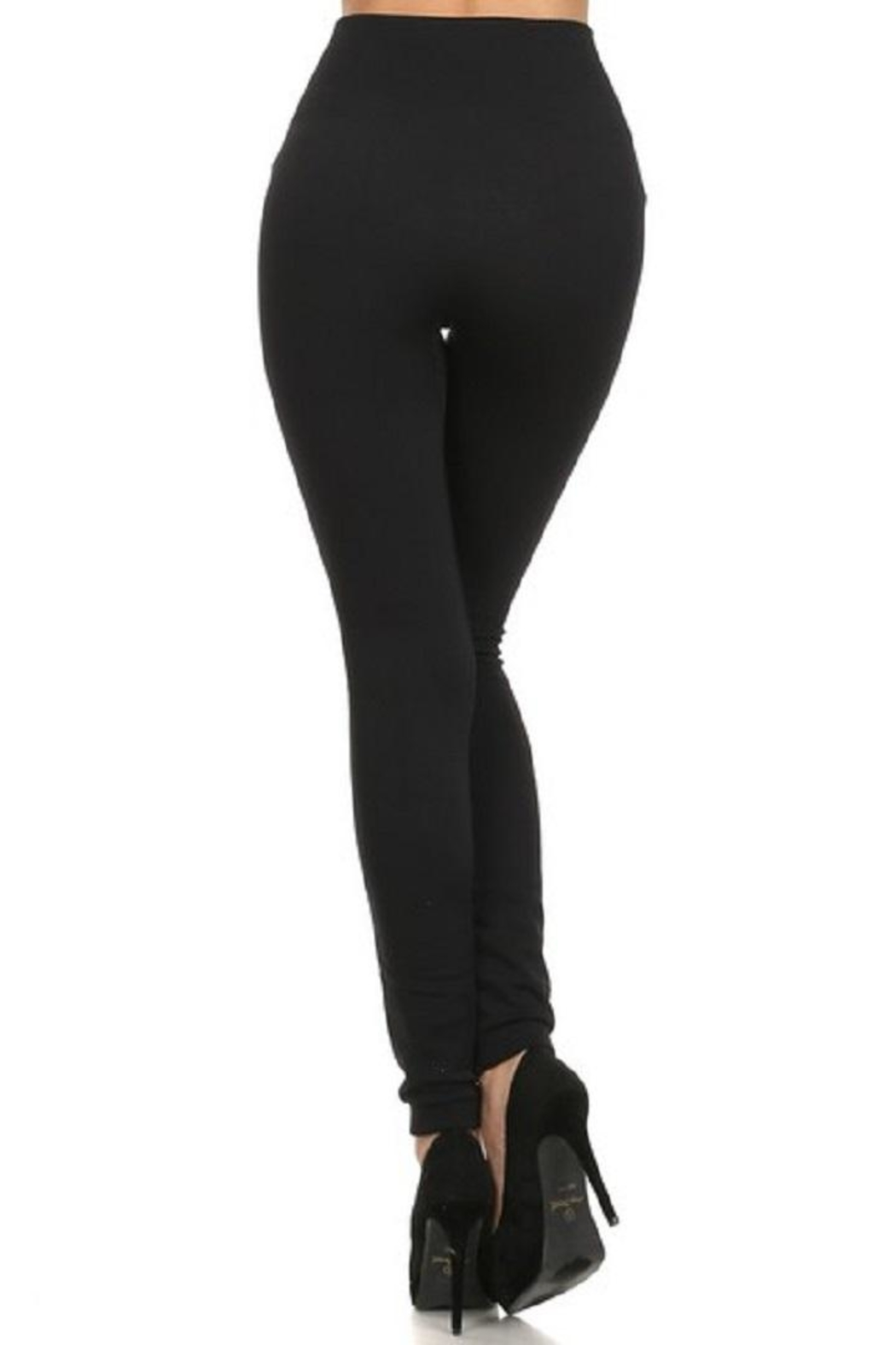 Yelete Waist Fleece Legging - Front Full Image