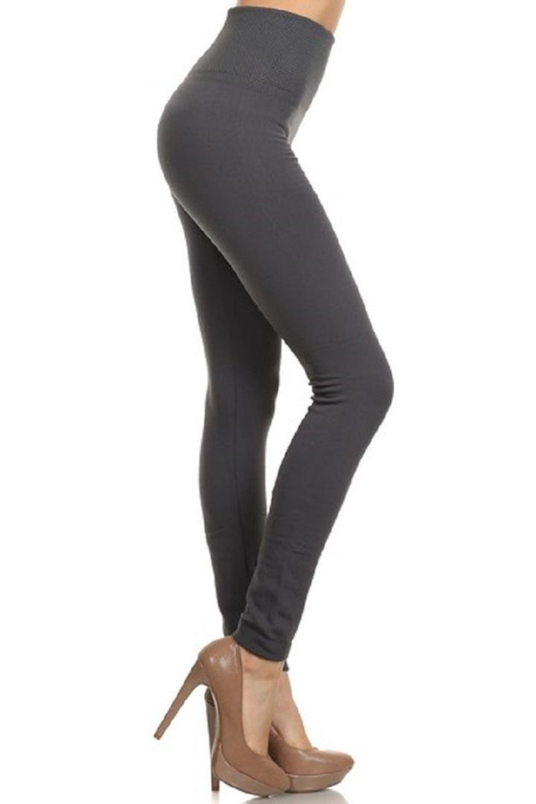 Yelete Waist Fleece Legging - Front Cropped Image