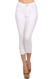 Yelete White Capri Jeggings - Product Mini Image