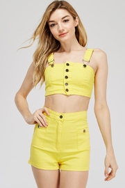 Love Harmony Yellow Buttoned Set - Product Mini Image